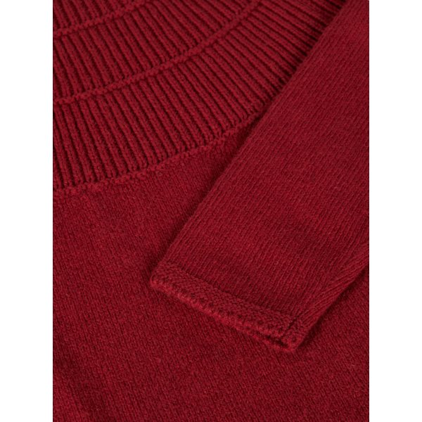 Strickkleid nmfotilde Biking Red